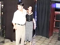 Preggo Sadomasochism girl fucked in sexshop
