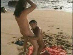 Beach booty fuck