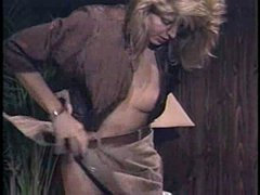 Lingerie wench in Strap-on act